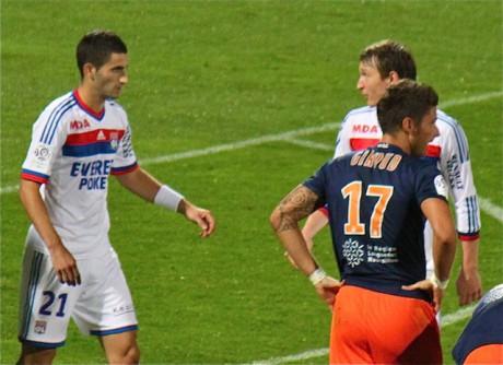 Olivier Giroud, l'attaquant international du MHSC, a été un poison pour les Lyonnais  - LyonMag