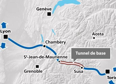 La tracé simplifié de la future ligne Lyon-Turin - LyonMag