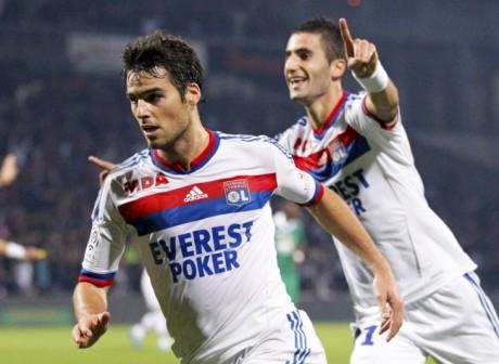 Gourcuff a marqué son dernier but pour l'OL contre Saint-Etienne, en octobre dernier - DR