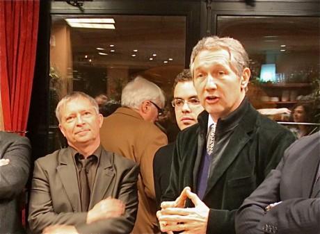 Bernard Fialaire, président de la fédération départementale deu Parti radical, accompagné de Daniel Pomeret. Tous deux sont vice-présidents