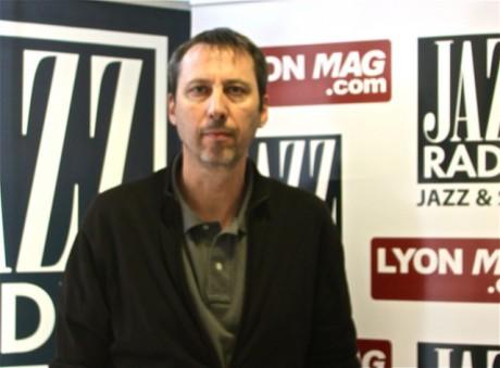 Richard Schittly dans les studios de Jazz Radio - Photo Lyonmag.com
