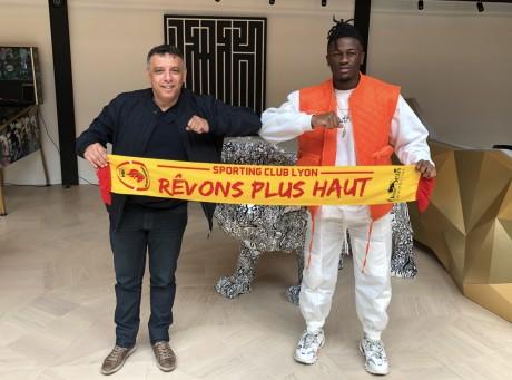 Mohamed Tria, Président du SC Lyon et Landry Nomel - DR/Sporting Club de Lyon