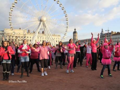 Le flashmob de l'année dernière - DR/Courir POUR ELLES