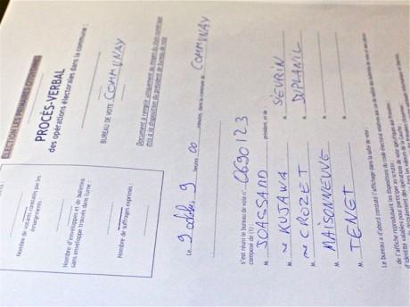 Le PV des résultats de Communay, dimanche soir à la fédération PS du Rhône - LyonMag