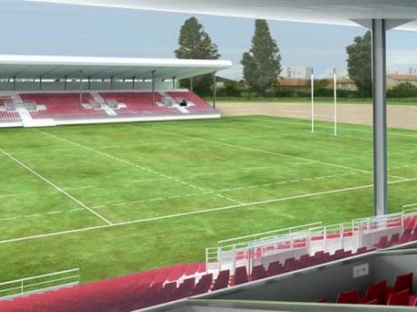 Vue d'architecte du Matmut Stadium au stade des Etats-Unis - DR