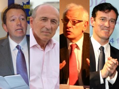 Christophe Boudot, Gérard Collomb, Philippe Meirieu et Michel Havard - DR