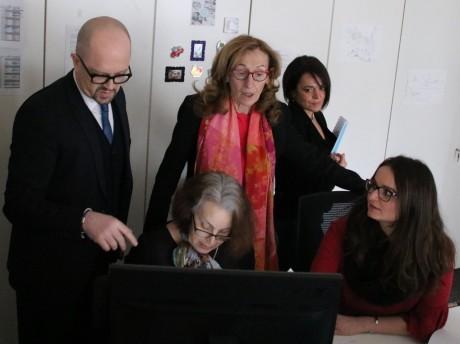 Nicole Belloubet, au centre, lors d'une visite à Lyon - LyonMag