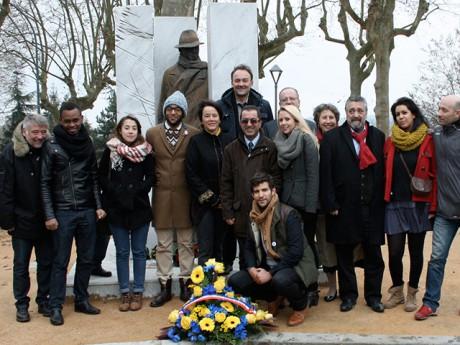 Les représentants du PRG lors d'un hommage à Jean Moulin - DR