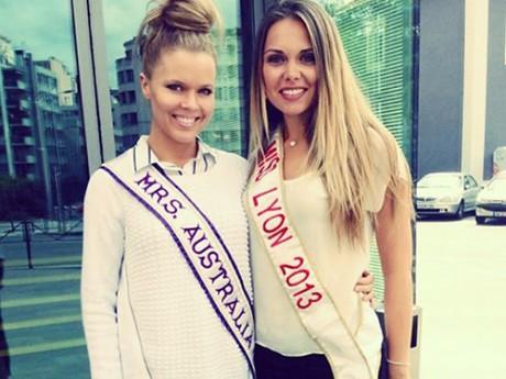 Miss Australia avec Miss Lyon 2013 - LyonMag