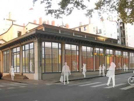 La Halle de la Martinière doit rouvrir en 2017 - DR