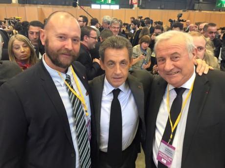Christophe Quiniou, Nicolas Sarkozy et Michel Forissier - DR Christophe Quiniou