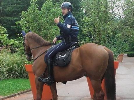 Un cavalier de la brigade équestre - LyonMag