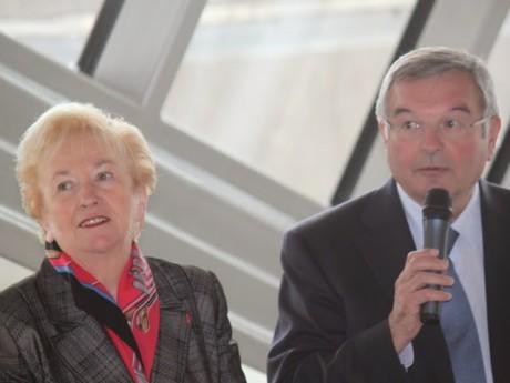 Danielle Chuzeville et son prédecesseur Michel Mercier - LyonMag