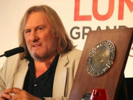 Gérard Depardieu, lors du Festival Lumière à Lyon - LyonMag