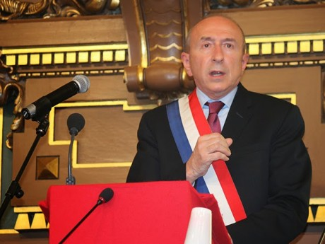 Gérard Collomb, ici lors de son investiture en 2014 - LyonMag