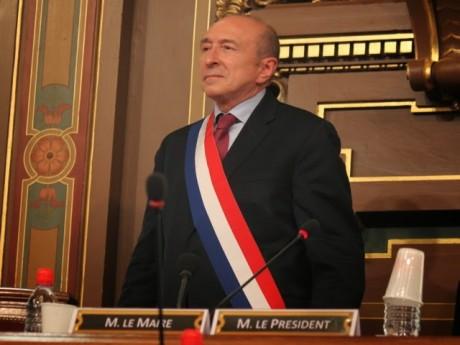 Gérard Collomb lors de son élection en 2014 au conseil municipal - LyonMag