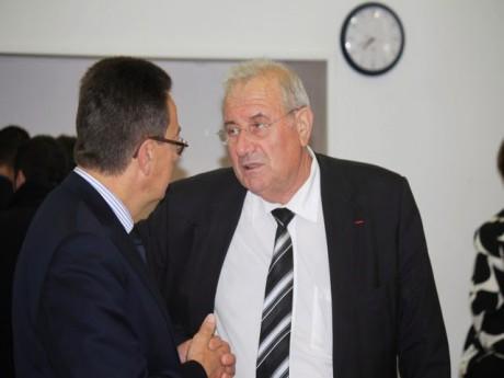 Philippe Cochet et Michel Forissier, président et secrétaire départemental de l'UMP du Rhône - LyonMag