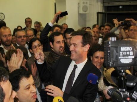 Michel Havard lors de sa victoire à la primaire UMP avant la municipale 2014 - LyonMag