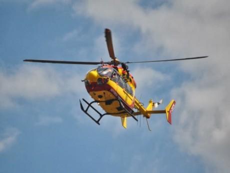 Les victimes ont été transportées à l'hôpital en hélicoptère - Photo d'illustration - LyonMag.com