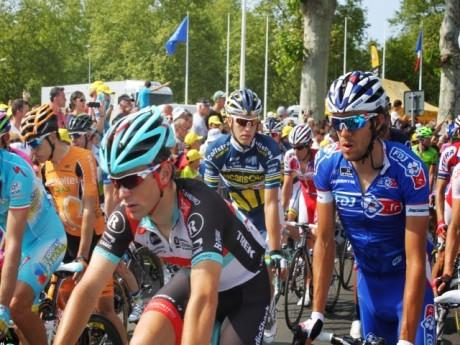 Les coureurs lors du Tour de France 2013 à Lyon - Archives LyonMag