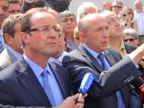 Gérard Collomb et François Hollande - Photo LyonMag