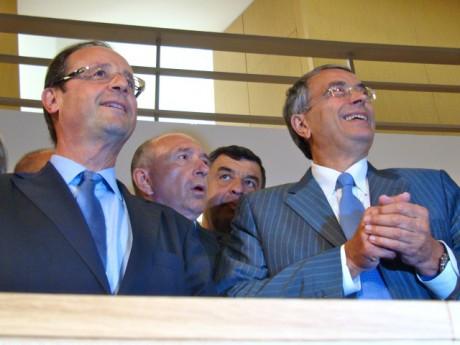 François Hollande avec Gérard Collomb et Jean-Jack Queyranne - LyonMag