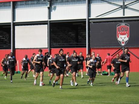 Les joueurs du LOU à l'entraînement - Photo LyonMag