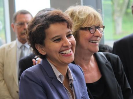 Najat Vallaud-Belkacem et l'actuelle députée Pascale Crozon - LyonMag