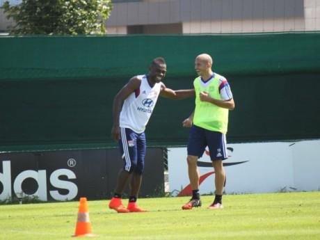 Henri Bedimo et Chritophe Jallet à l'entraînement - Photo LyonMag