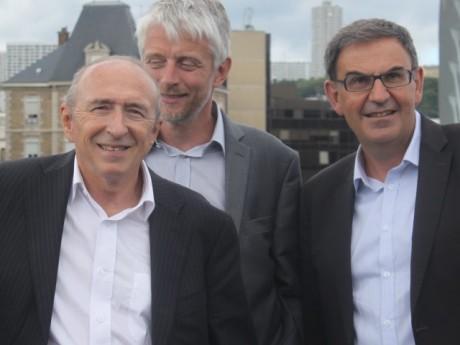 Gérard Collomb, Hubert Julien-Laferrière et David Kimelfeld - LyonMag