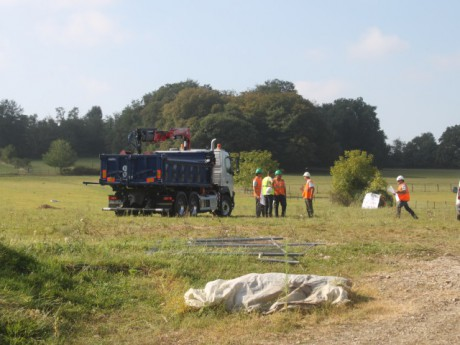 Le chantier débuté sur le terrain de Philippe Layat - LyonMag