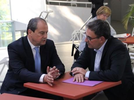 Jean-Christophe Cambadélis, en discussions avec David Kimelfeld, l'ex-patron du PS du Rhône - LyonMag