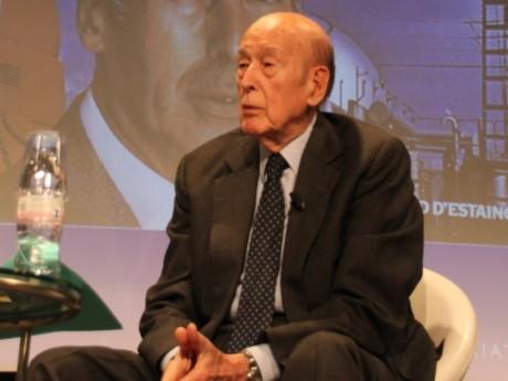 Valéry Giscard d'Estaing, lors de sa venue à l'emlyon en 2015 - LyonMag