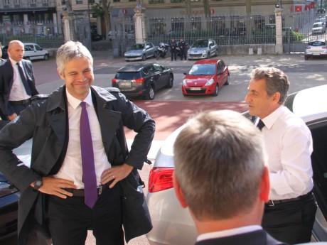 Laurent Wauquiez et Nicolas Sarkozy - LyonMag