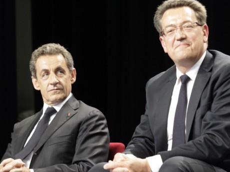Nicolas Sarkozy et Philippe Cochet, ici à Rillieux - LyonMag