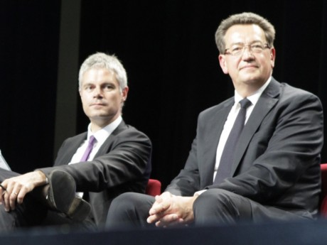 Philippe Cochet, ici avec Laurent Wauquiez - LyonMag