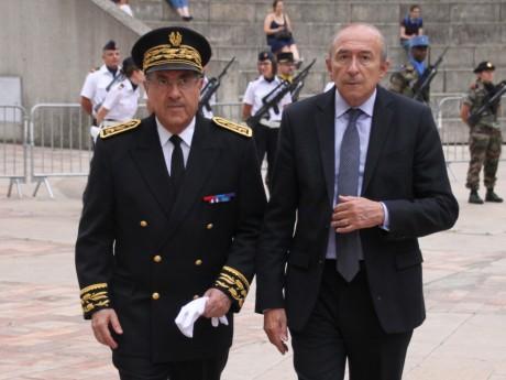 Gérard Collomb, ici avec l'ancien préfet du Rhône Michel Delpuech - LyonMag