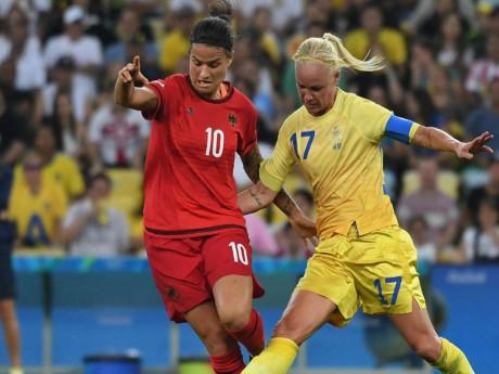 Marozsan et Seger à la lutte lors de la finale olympique - DR