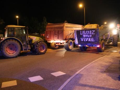 Les agriculteurs en colère lors d'une récente opération à Givors - LyonMag