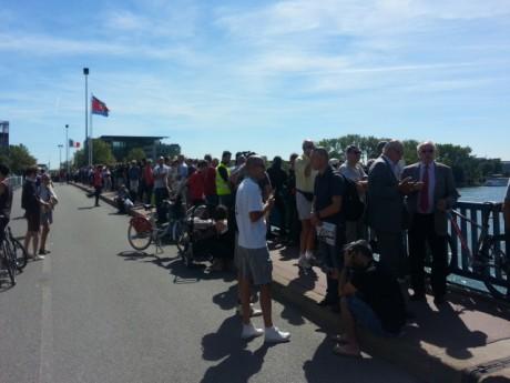 Le beau temps a notamment permis aux Lyonnais d'assister à l'événement - LyonMag