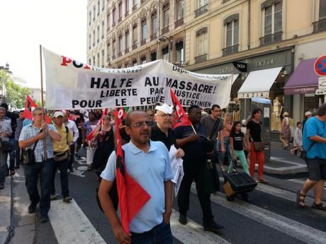 Les manifestants pro-palestienniens à Lyon - Photo LyonMag.com