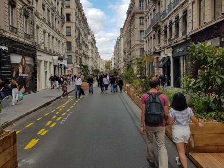 La rue Edouard-Herriot piétonne - LyonMag