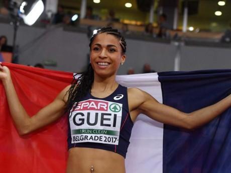 Floria Guei, après sa victoire - DR