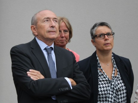 Anne Brugnera, ici avec Gérard Collomb - LyonMag