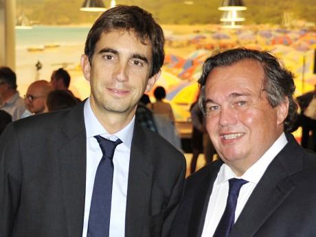 Le président du LOU, Yann Roubert, et Olivier Ginon - LyonMag