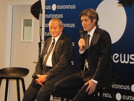 Naguib Sawiris et Michael Peters d'Euronews - LyonMag