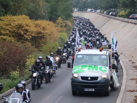 Une manifestation des Motards en Colère - LyonMag