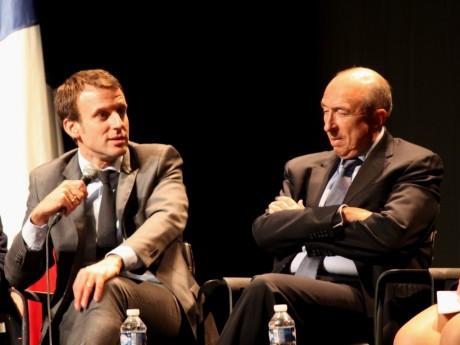 Emmanuel Macron et Gérard Collomb - LyonMag