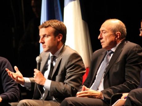 Emmanuel Macron, ici avec Gérard Collomb - Lyonmag