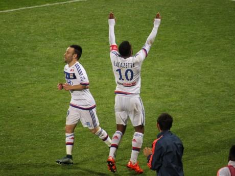 Mathieu Valbuena et Alexandre Lacazette, les deux héros du match - LyonMag
